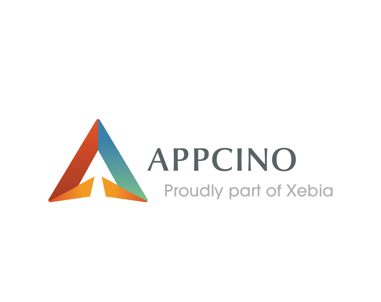 Appcino logo Proudly part of Xebia RGB