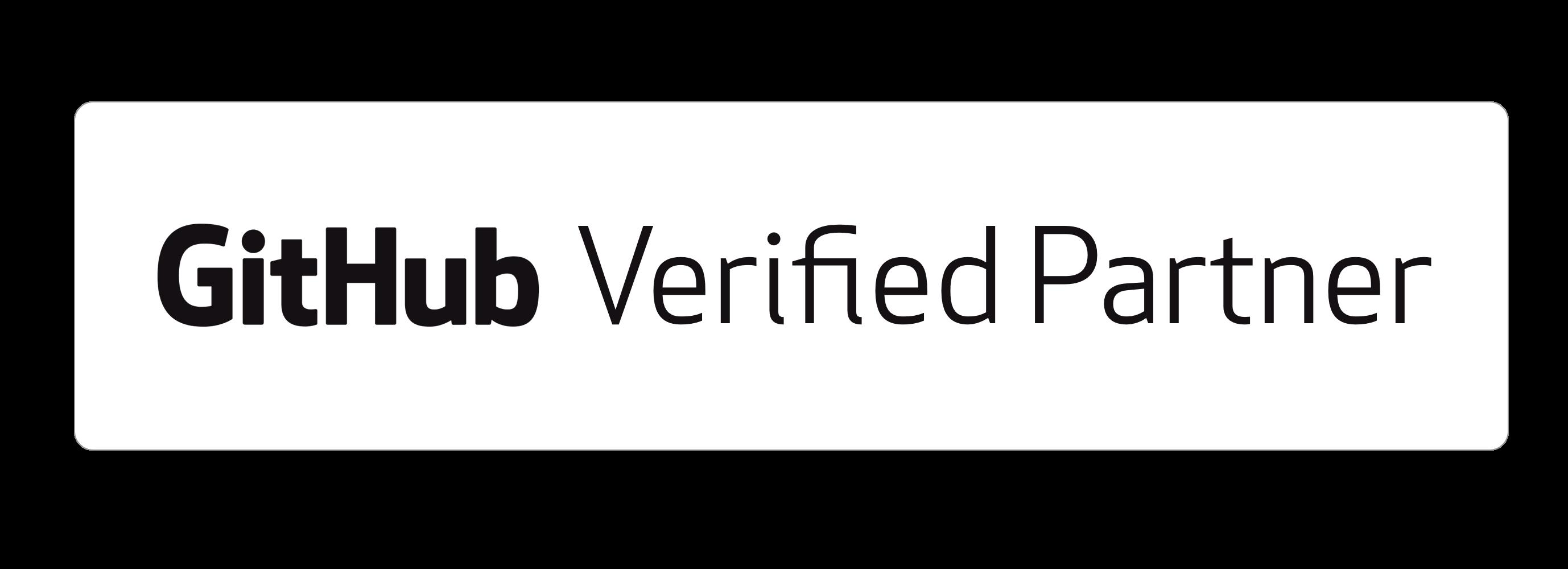 GitHub Verified Partner - white